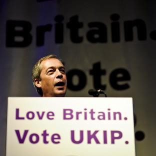 Hampshire Chronicle: UKIP leader Nigel Farage during his speech at the party's spring conference in Torquay