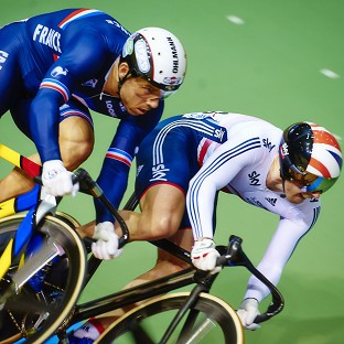 Jason Kenny, right, has had a Track Cycling World Championships to forget