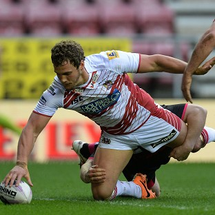 Sean O'Loughlin scored a brace of tries for Wigan