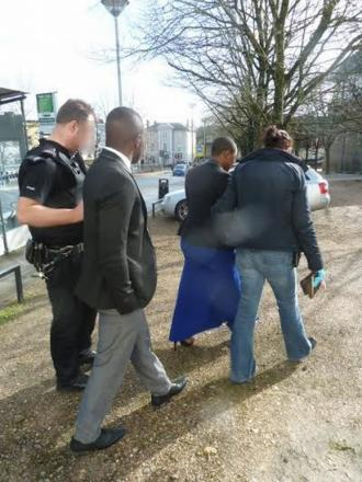 The arrests at Winchester Register Office