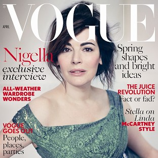 Nigella Lawson wore minimal make-up for her Vogue cover shoot