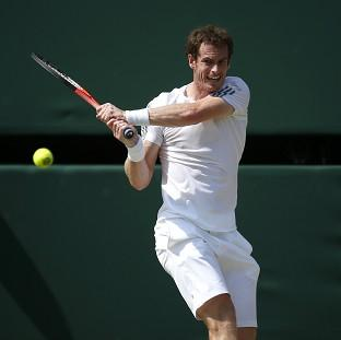 Andy Murray, pictured, could meet Rafael Nadal in the quarter-finals of the BNP Paribas Open