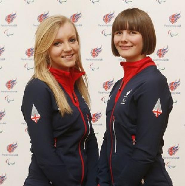 Hampshire Chronicle: Millie Knight, right, will carry the flag for Great Britain during Friday's opening ceremony for the 2014 Sochi Winter Paralympics