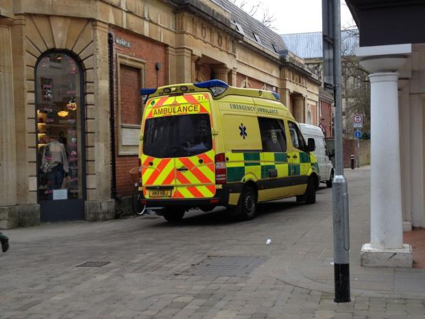 Man currently being treated after collapsing in Winchester shop