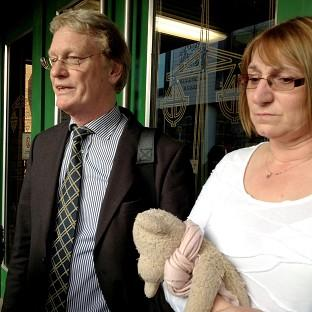 Chris Bazlinton and Tina Hughes, whose daughter Olivia Bazlinton was killed by a train in Essex in 2005