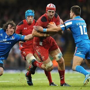 Luke Charteris, centre, has been ruled out of the showdown with England