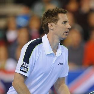 Former Wimbledon winner Jonny Marray, pictured, partnered Andy Murray to victory in the first round of the men's doubles at the BNP Paribas Open