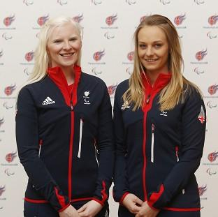 Hampshire Chronicle: Kelly Gallagher (left) and guide Charlotte Evans (right) won Great Britain's first ever gold medal at the Winter Paralympics