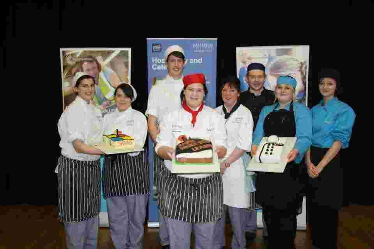 One group of Level 2 Catering Apprentices battled it out against two teams of Level 1 Catering Students in a heated competition of technical cake d