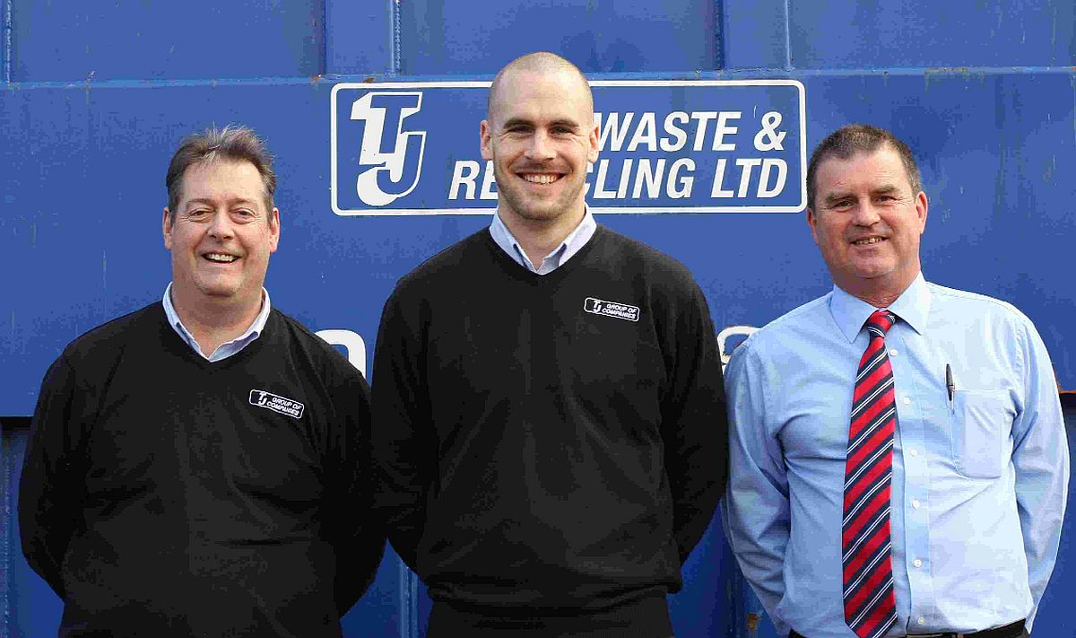 New starters at TJ Group Mark Alford, Dan Lloyd and Clive Westwood
