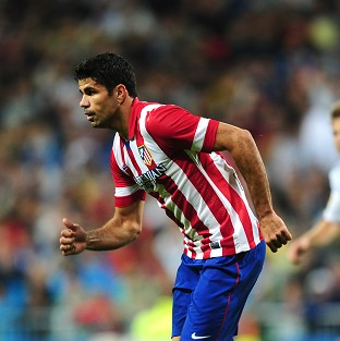 Diego Costa, pictured, was again on the mark as Atletico Madrid progressed through to the quarter-finals of the Champions League at the expense of AC Milan