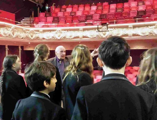 Pupils from The Westgate School were shown around the theatre by local historian Phil Yates