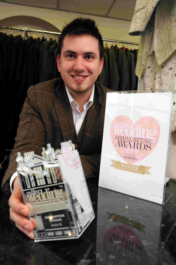 Hampshire Chronicle: Graeme Healy at the Black Tie shop in New Street, Basingstoke