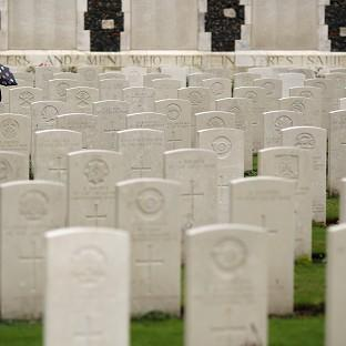 Hampshire Chronicle: Twenty soldiers were laid to rest at a service at the Commonwealth War Graves Commission Cemetery at Loos-en-Gohelle near Lens