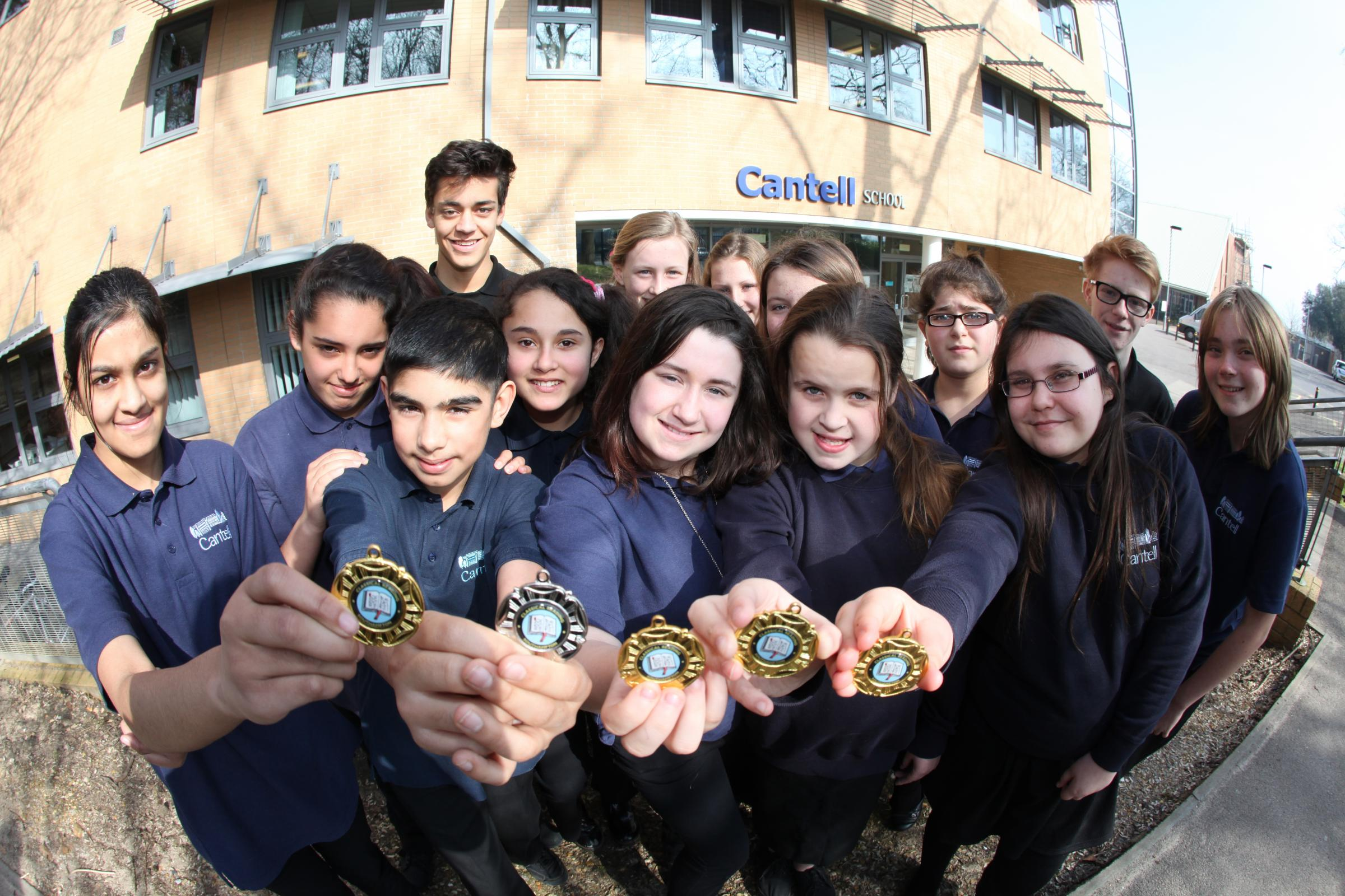Cantell School pupils won gold medals in a Southampton Latin competition