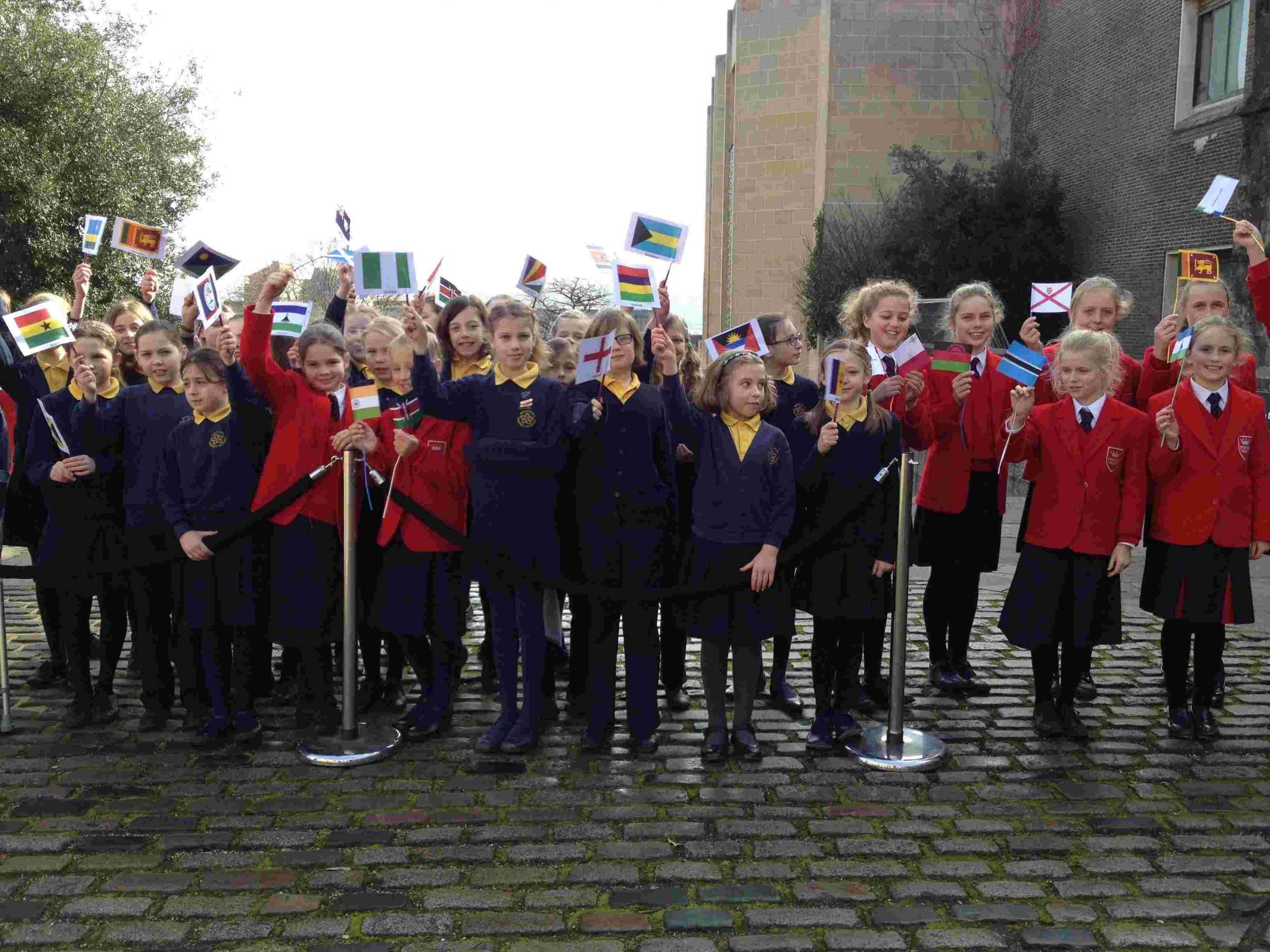 Western Church of England Primary School and Prince's Mead School choristers are in the spirit.