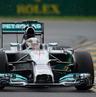 Lewis Hamilton had to retire after three laps