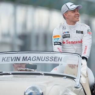 Kevin Magnussen finished the Australian GP in third place but was later elevated to secon