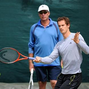 Andy Murray, right, has announced he has split from coach Ivan Lendl