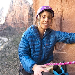 One Show host Alex Jones has completed her rockface challenge in the US for Sport Relief (PA/Sport Relief)