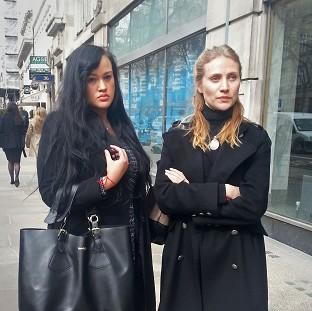 Hampshire Chronicle: Diana Nicholl-Pierson, left, and Anna Mazover outside an employment tribunal in central London