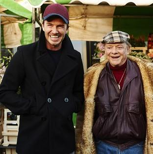David Beckham and Sir David Jason joined forces in a special Only Fools And Horses sketch for Sport Relief (PA/Sport Relief)