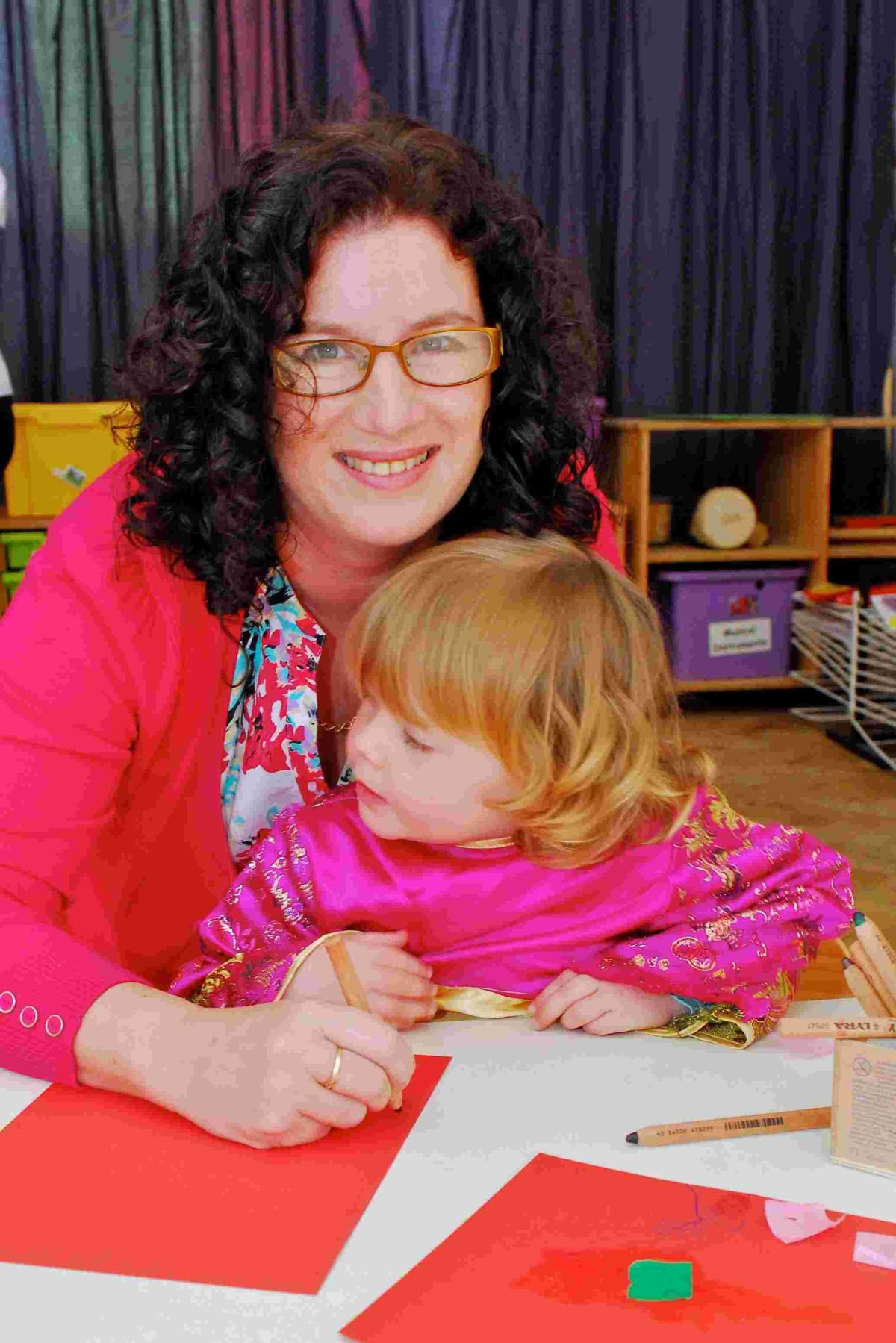 Cheryl Hadland, managing director of Tops Day Nurseries with a pupil