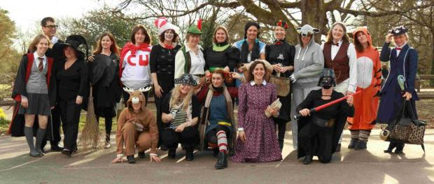 Staff at Hiltingbury Junior School, near Chandler's Ford, went to work in full costume