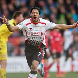 Luis Suarez scored a superb hat-trick in Liverpool's 6-3 success