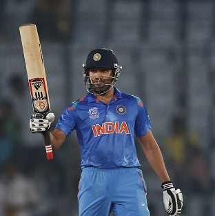 Rohit Sharma hit an unbeaten 62 to lead India to victory (AP)