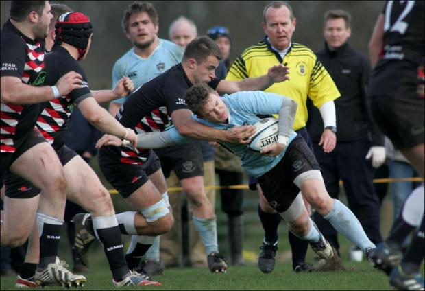 Hampshire Chronicle: Action from Fordingbridge's clash with Team Solent