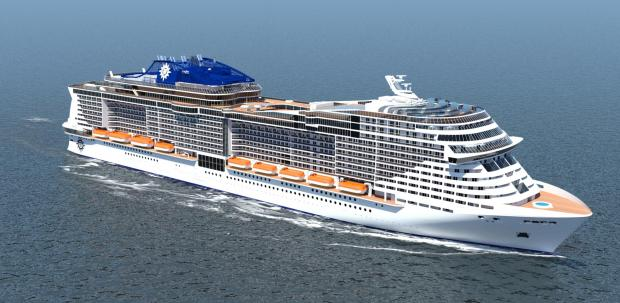 An artist's impression of one of MSC Cruises' two new cruise ships, due for delivery in 2017 and 2019.