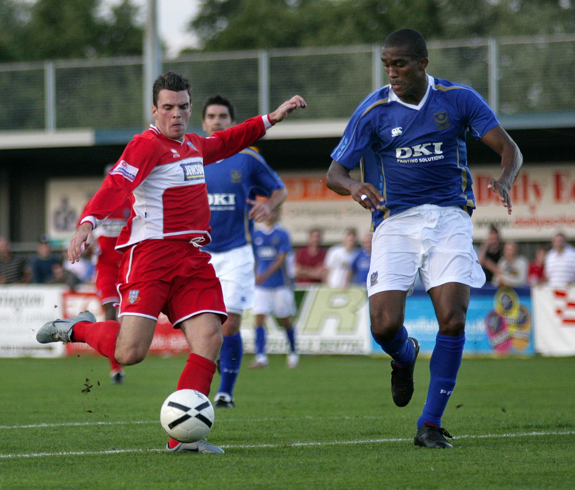 Eastleigh v Pompey in a friendly in 2007