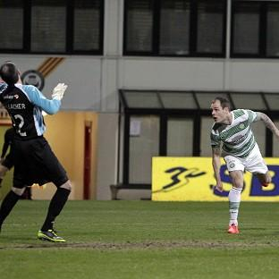Anthony Stokes opens the scoring for Celtic