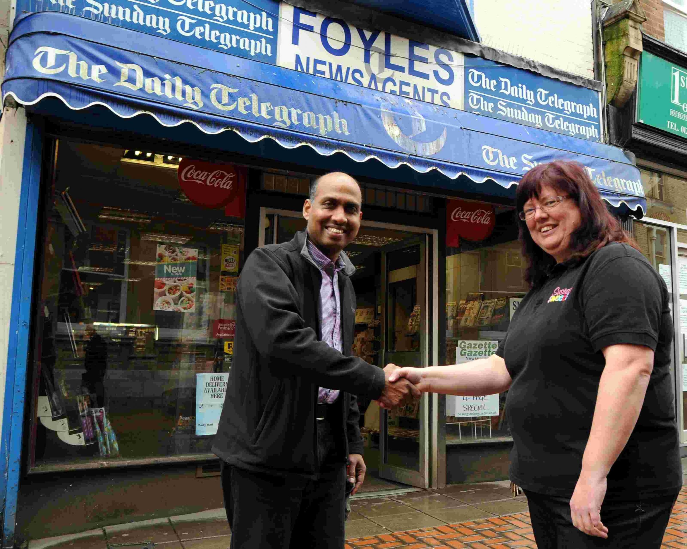 It's all change for a popular Basingstoke newsagents