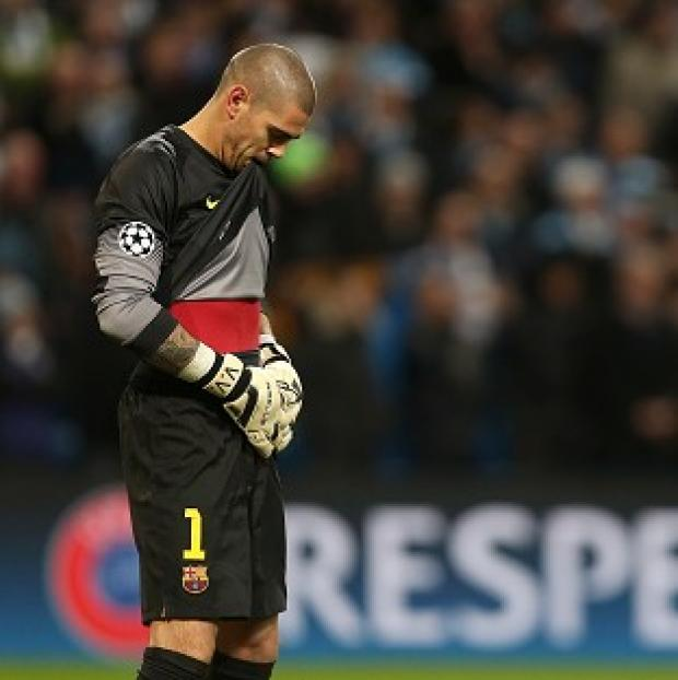 Hampshire Chronicle: Barcelona goalkeeper Victor Valdes is expected to be sidelined for seven months after undergoing knee surgery