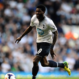 Emmanuel Adebayor is set for a return to the Tottenham line up