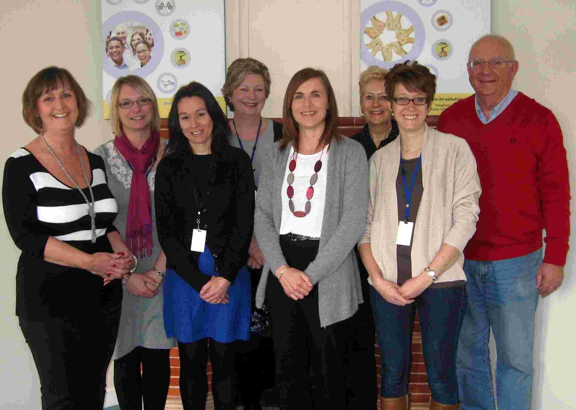The HR Solutions team, with managing director Laura Davis on the far left