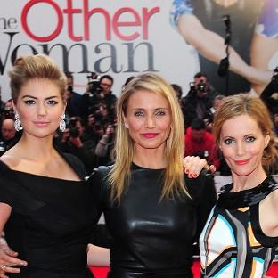 Kate Upton, Cameron Diaz and Leslie Mann attending the UK gala screening of The Other Woman at the Curzon Mayfair, London.