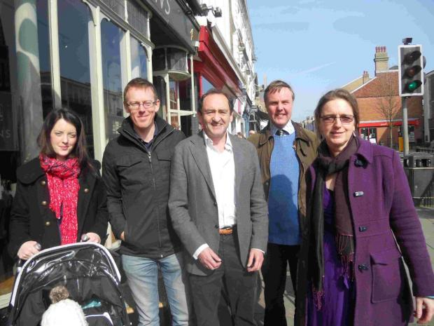 Hampshire Chronicle: Toni Griffiths, Phil Marter, Danny Habel, William Carver and Christina Welch