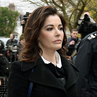 Nigella Lawson arriving gave evidence in the case against two of her former personal assistants