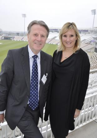 Hampshire Chamber chief executive Stewart Dunn and Gosport MP Caroline Dinenage