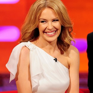 Kylie Minogue during filming of the Graham Norton Show