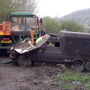 One of eight abandoned vehicles that have been discovered during the clean-up on the Somerset Levels.