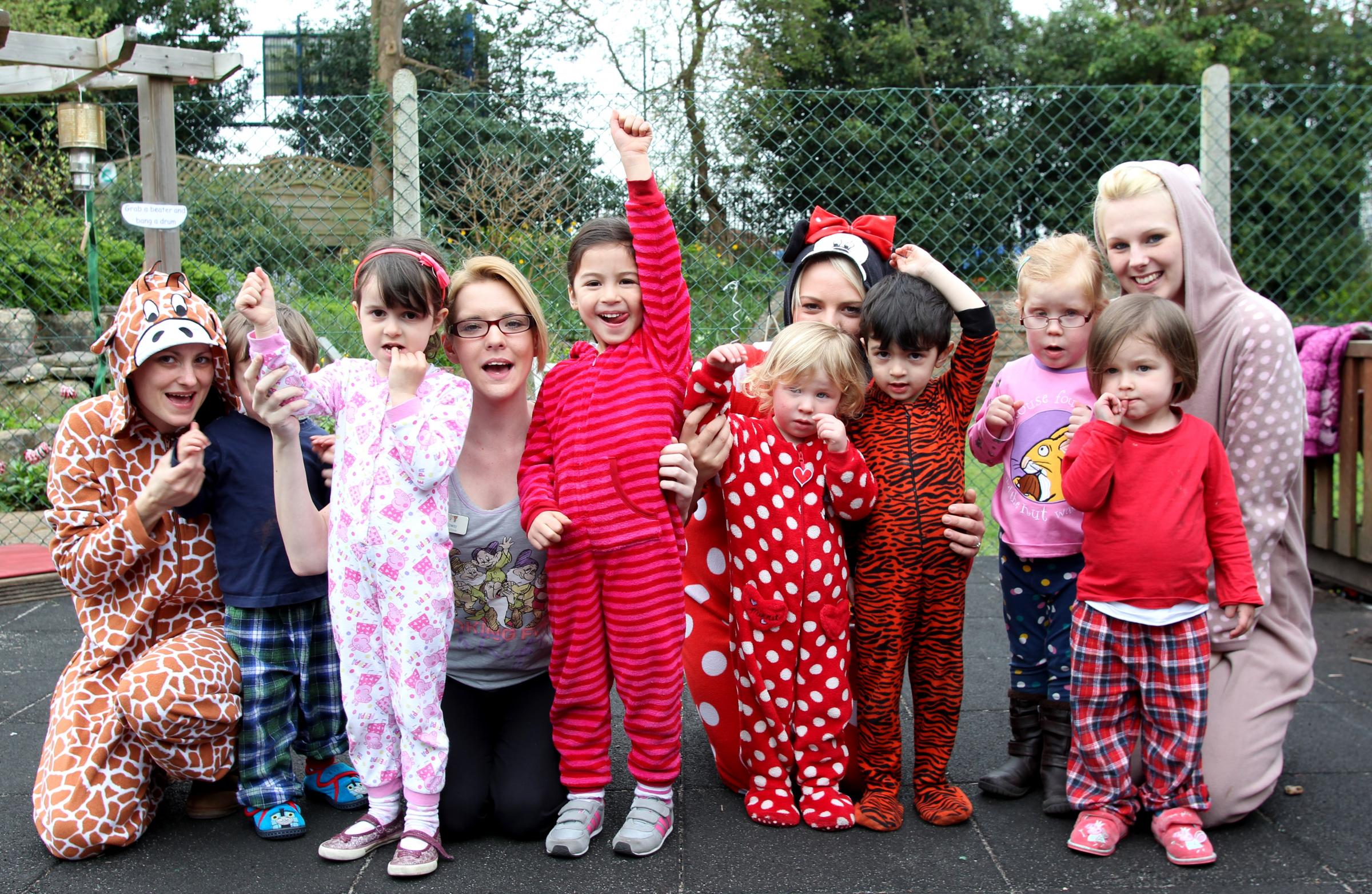 Children at The Co-Operative Childcare in Shirley Warren enjoy their pyjama party