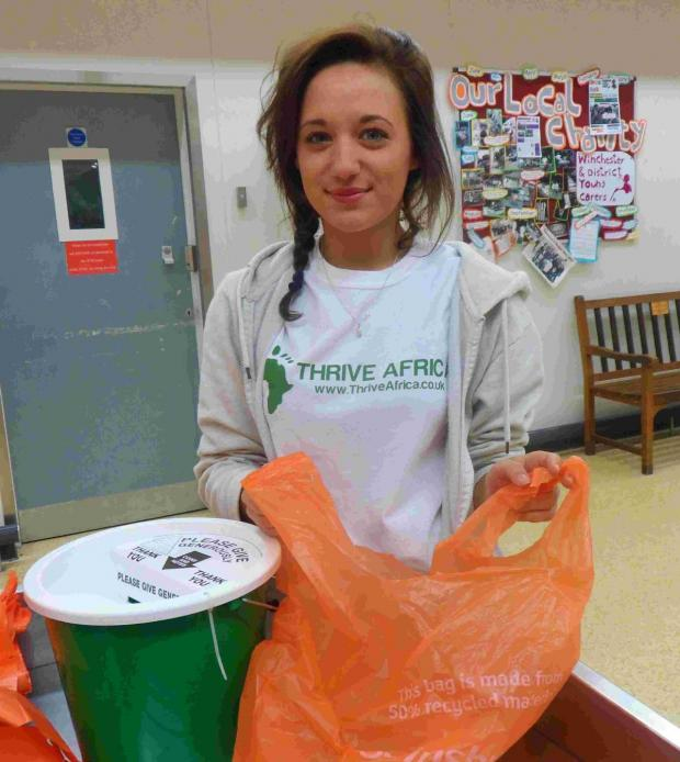 Hampshire Chronicle: Rachel Baines during her bag pack at Sainsbury's in Winnall .