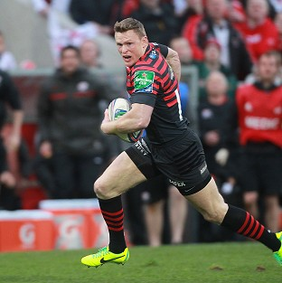 Chris Ashton went over for a pair of tries for Saracens