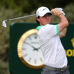 Rory McIlroy, pictured, was in buoyant mood ahead of the Masters