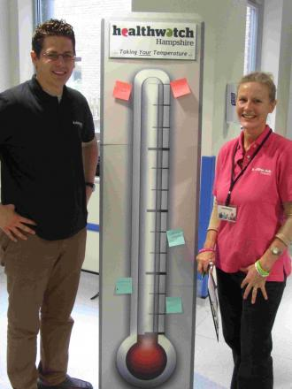 Steve Taylor, manager, with , research officer Sally Ann Wakeford