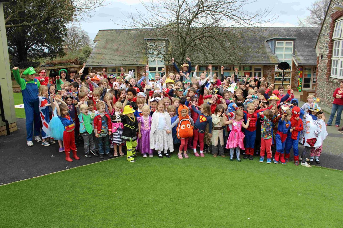 The children of Twyford St Mary's in Twyford all joined in by dressing as their favourite Super Hero to raise money for I Am Super capes and
